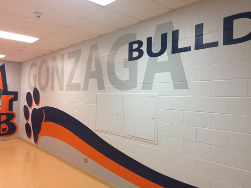 St Aloysius Gonzaga CSS gym entrance mural2.jpg