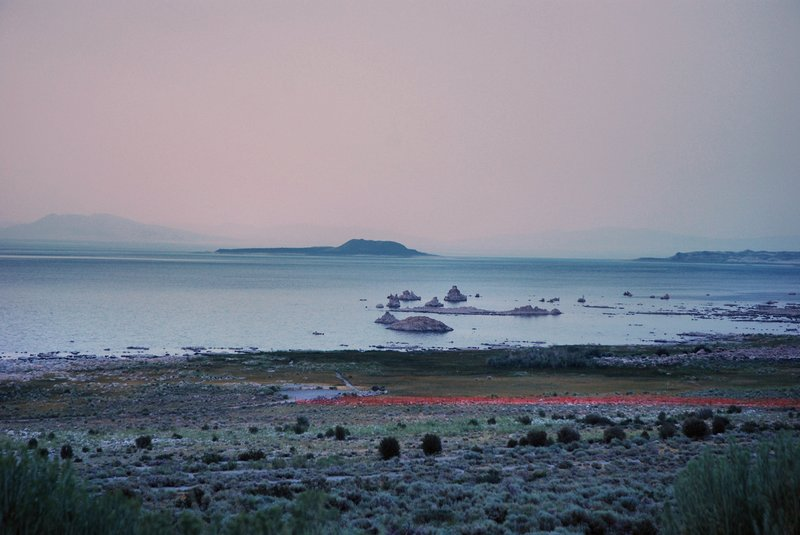 Mono Lake 1.jpg :: Mono Lake is located near Yosemite National Park in California. Over one million years old it covers about sixty five square miles and has no outlet. Salts and minerals wash into the lake from the Eastern Sierra's.