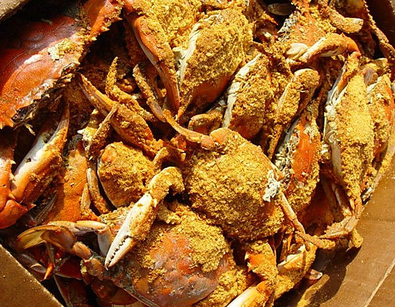 Southern Maryland Blue Crabs.jpg :: Southern MD Blue Crabs are bought by the bushel for Crab feasts popular most weekends during season