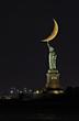 Lighting the Moon - Statue of Liberty - Crescent Moonset.jpg