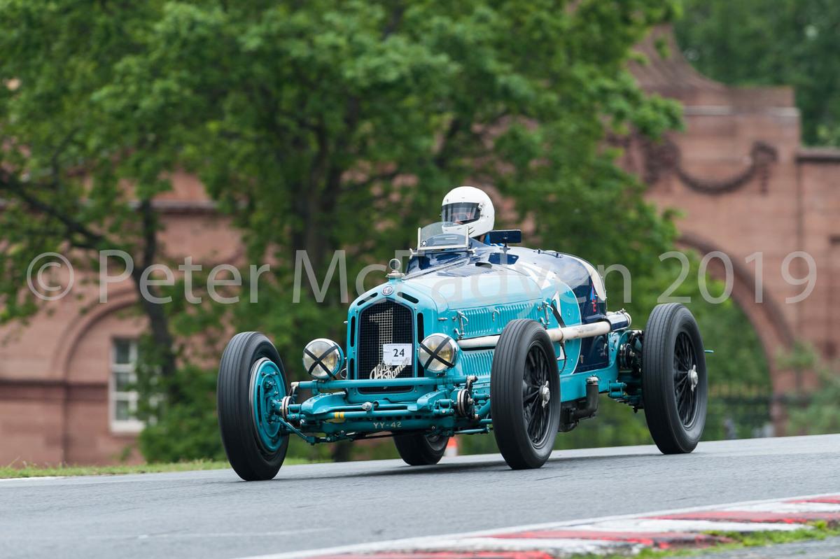 Christopher Mann (Alfa Romeo Monza) winner of the ODM race