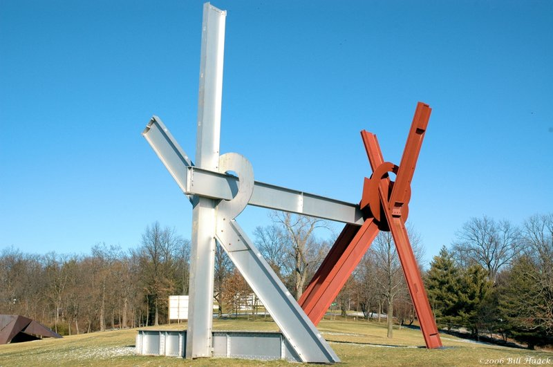 63_DSC_0774 x metal sculpture 011406.jpg :: In 1968, Mrs. Matilda Laumeier bequeathed the first 72 acres of the future Laumeier Sculpture Park, together with a large story-and-a-half house of cut stone, to the people of St. Louis County in memory of her husband, Henry H. Laumeier, for the benefit of the greater St. Louis metropolitan area. In 1975, the park was proposed as a possible site for the exhibition of sculpture and the concept of Laumeier Sculpture Park emerged. Catapulted by a collaborative of citizen leaders in the arts, education and business communities, Laumeier Sculpture Park, 501(c)3, was incorporated in September 1977; over the years it has grown to 105-acres. Laumeier Sculpture Park today has over 300,000 visitors annually.     Accredited by the American Association of Museums, Laumeier Sculpture Park is today an institution of international significance. The institution itself is one of a handful of open-air museums around the world and a unique compliment to the cultural landscape of the St. Louis region. Laumeier provides high-quality learning experiences for the greater St. Louis community and for visitors from all over the world. The many changing exhibitions, concerts, educational programs, lectures and special events developed at Laumeier Sculpture Park for all to enjoy support the mission of the institution.