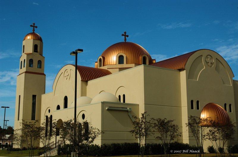 70_DSC_1377 Houston Coptic Orthodox church 120206.jpg :: This colorful Bostic Orthodox church is in NW Houston, TX.