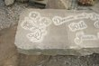 Memorial Bench with Anniversary etched into a curbstone slab on two sandstone rock pedestals 4.jpg