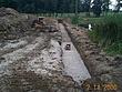 Preparing the footer for a reclaimed bridgestone installation at Powderhorn CC Hole 1.jpg