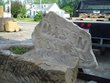 Reclaimed Barnstone Address Marker pedestal planter and slab with Mason 101 with flower etching.jpg