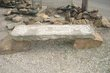 Stone Bench with Anniversery on curbstone slab on two sandstone rock pedestals 2.jpg