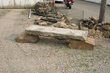 Stone Bench with Anniversery on curbstone slab on two sandstone rock pedestals.jpg