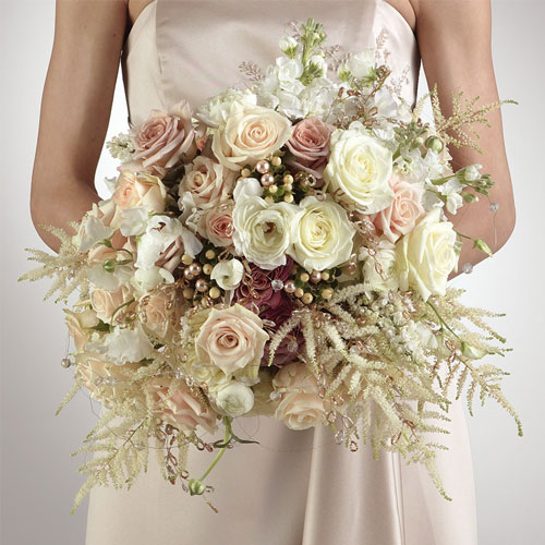 White and Ivory Vintage Bridal Bouquet :: Metro Detroit Michigan ...