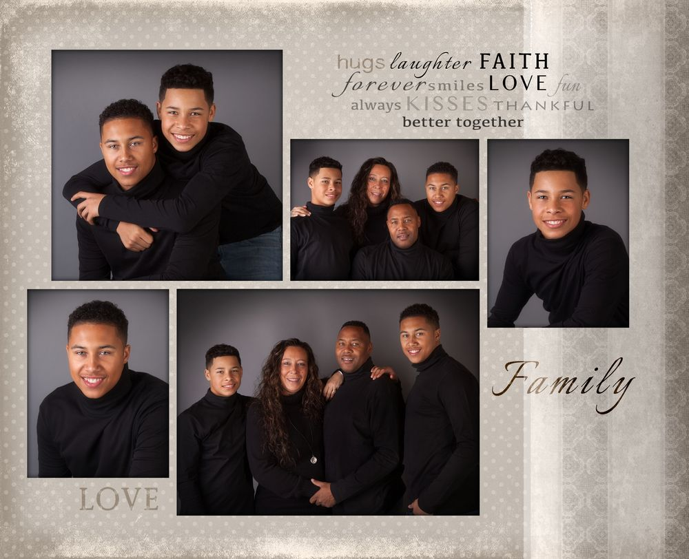 Family Collage 2 Families Photographer Sports WoodbridgeVA