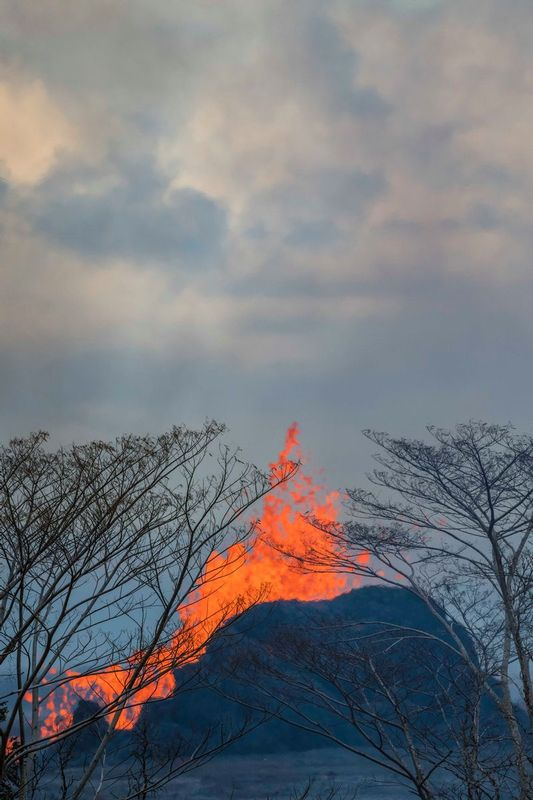 RZ5303.jpg :: 2018 volcanic eruption in Leilani Estates subdivision on the Big Island of Hawaii.