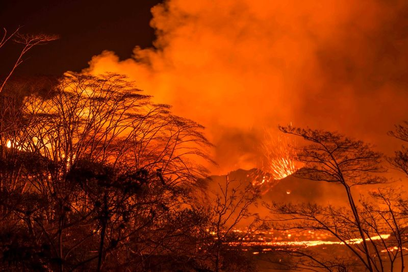 RZ5843.jpg :: 2018 volcanic eruption in Leilani Estates subdivision on the Big Island of Hawaii.
