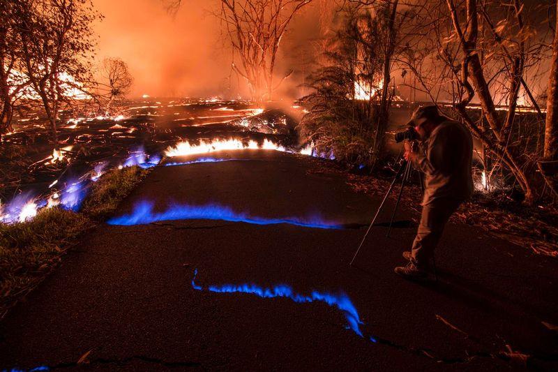 RZ5900.jpg :: 2018 volcanic eruption in Leilani Estates subdivision on the Big Island of Hawaii.