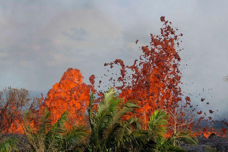 RZ6445.jpg :: 2018 volcanic eruption in Leilani Estates subdivision on the Big Island of Hawaii.