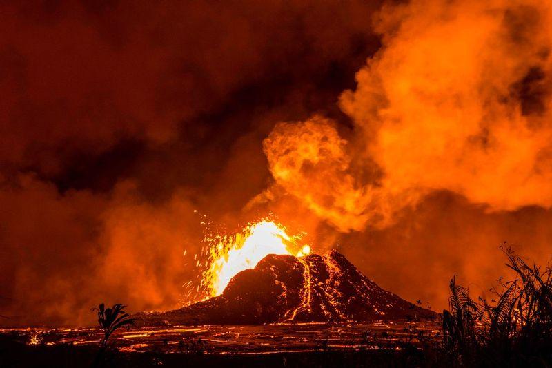 RZ6905.jpg :: 2018 volcanic eruption in Leilani Estates subdivision on the Big Island of Hawaii.