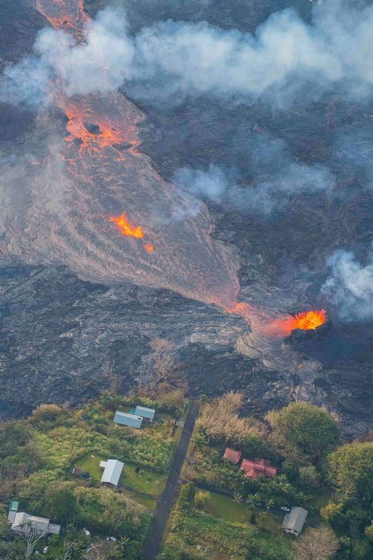 RZ7531.jpg :: 2018 volcanic eruption in Leilani Estates subdivision on the Big Island of Hawaii.
