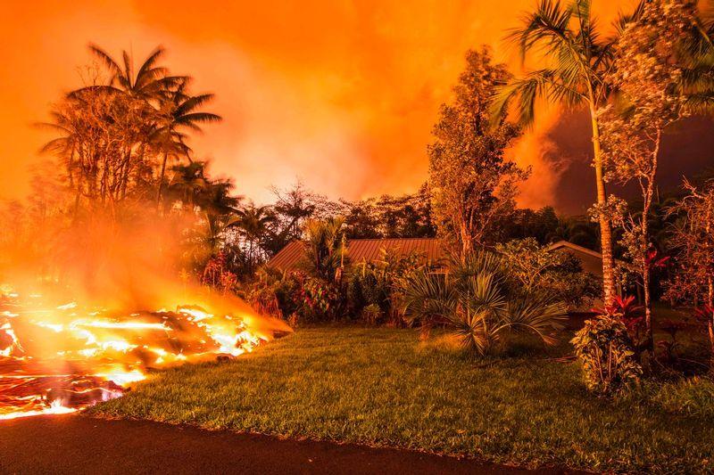 RZ8909.jpg :: 2018 volcanic eruption in Leilani Estates subdivision on the Big Island of Hawaii.
